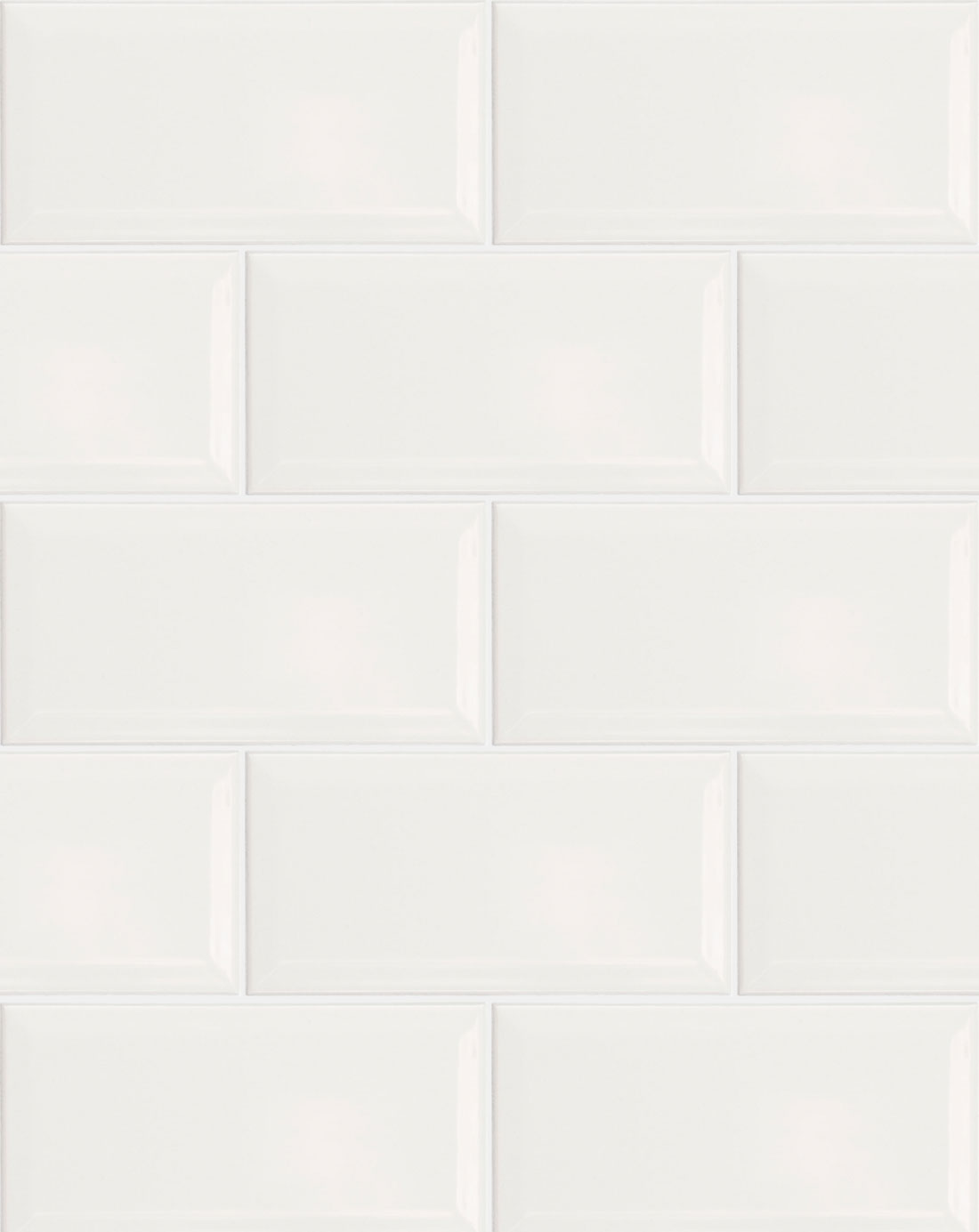 metro white wall tile