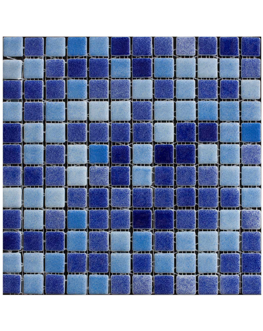 Blue Pool Mix Mosaic Wall Tiles - Bathroom Tiles Direct