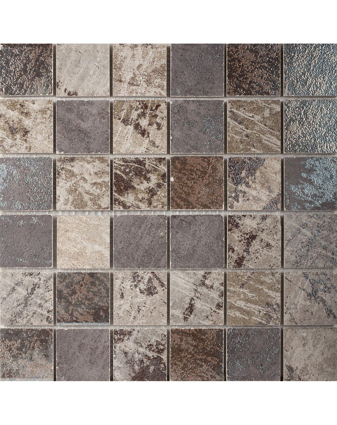 Metallica Multicolour Mosaic Wall Tiles Bathroom Tiles Direct