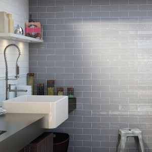 Bulevar Ripple Antique Grey Wall Tiles