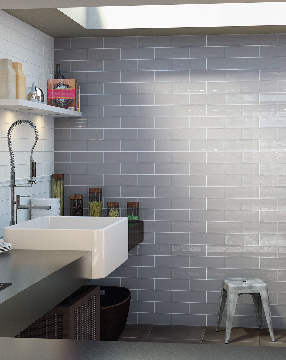 Bulevar Ripple Antique Grey Wall Tiles Bathroom Tiles Direct